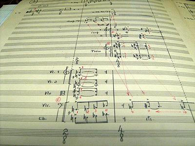 Manuskrip van Variations de Timbres